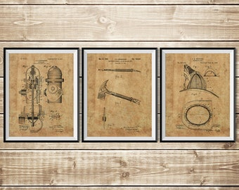 Firefighter Art Gift, Patent Print Group, Firefighter Wall Art, Firefighter Decor, Fireman Art Gift, Fireman Printable, INSTANT DOWNLOAD