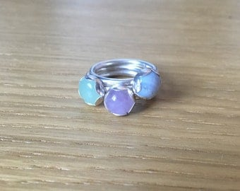 Sterling Silver Flower Petal Ring