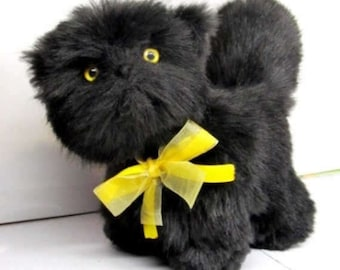 Black kitten,collection toy, Art Collectibles, collectible cats, 6.2 inches collectible bear, Very nice, bright and real, CAT OOAK