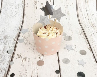 20 x Star Cup Cake Toppers