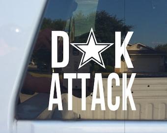 DAK Attack Decal/Go Cowboys