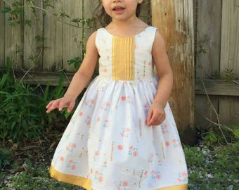 Custom made Molly Dress, you pick fabric/style Sizes 12 months to 6