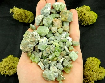 10% Off Wholesale PERIDOT Crystals (Gem Olivine, 200g) Natural Raw Specimens in Bulk #PDOT3