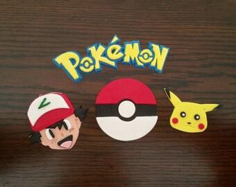 Pokemon fondant Logo with characters.