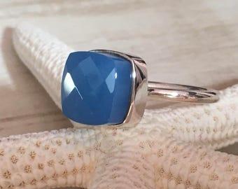 Ring PATIL - Blue Light (light blue) Calcidon