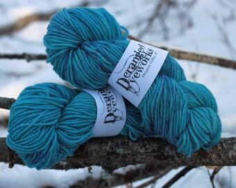 Hand Dyed Yarn -  100% Wool, Aran 3 Ply