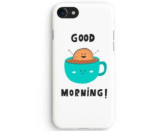 Kawaii good morning - iPhone 7 case, Samsung Galaxy S7 case, iPhone 6, iPhone 7 plus, iPhone SE, iPhone 5S, 1C081A