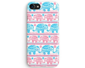 Elephant Indian pattern - iPhone 7 case, Samsung Galaxy S7 case, iPhone 6, iPhone 7 plus, iPhone SE, iPhone 5S, 1C088A