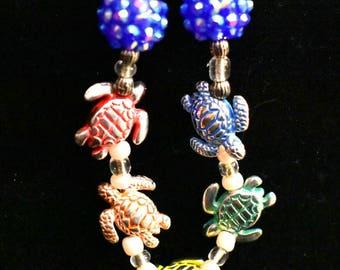 Rainbow Sea Turtle Bracelet