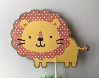 Lion Cake Topper, safari animals themed party, Lion Centerpiece, safari cupcake toppers, safari animals baby Shower centerpiece.