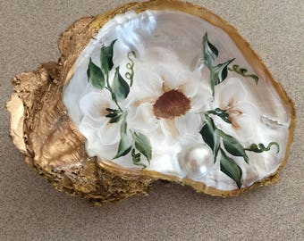 Hand painted Oyster shells