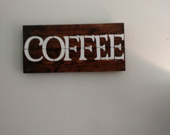 Rustic Coffee Station Sign