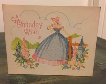 Vintage unused birthday card