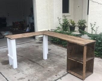 Hand Made Desk l shaped desk | etsy
