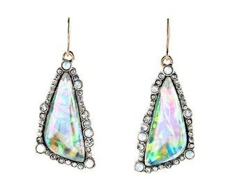 Moonlight Crystal Drop Earrings