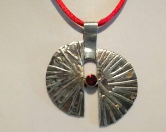 Unique silver necklace, statement silver necklace, silver gold necklace, sterling silver necklace, mixed metals necklace, statement pendant