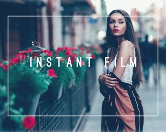 Instant Film Premium Lightroom Preset Professional Photo Editing for Portraits, Newborns, Weddings By LouMarksPhoto