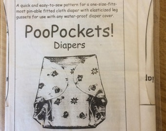 New Conceptions Poo Pockets Cloth Nappy Sewing Pattern One-Size