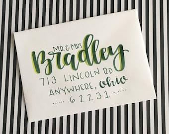 Envelope Addressing // Hand Lettered Envelopes // Wedding Envelopes // Modern Calligraphy Envelopes
