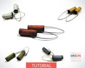Orsons Rustic Tube Hollow Earrings Polymer clay & Silver Tutorial Ebook Instructions ENGLISH and ITALIAN