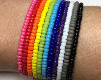 Stretch beaded bracelet, stretch bracelet, minimalist bracelet, stacking bracelet, cuff bracelet
