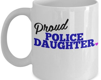 Proud Police Daughter Mug - Thin Blue Line Gift