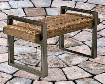 Reclaimed Wood Outdoor Bench
