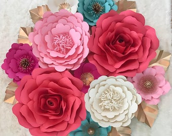 Large Paper Flower Backdrop/Nursey Decor****Customize your Order*****