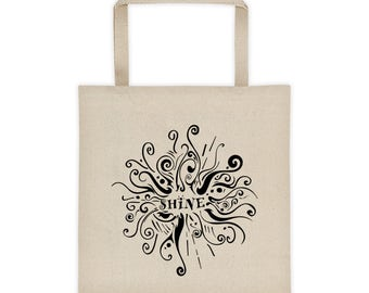 Shine Tote, Shine Bag, Canvas Tote Bag