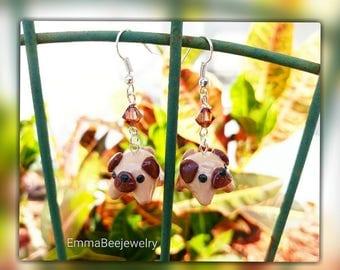 Pug Puppy Dog Earrings