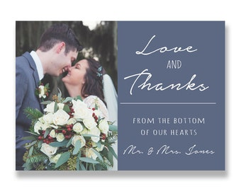 Wedding thank you card, post card, thank you, digital, printable, picture