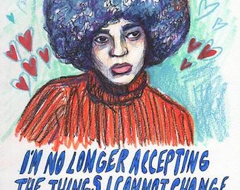 """Angela Davis (5""""x7"""" print)"""