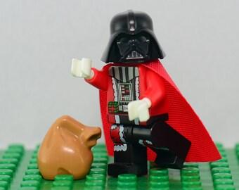 Darth Vader Santa Claus Custom minifigure Lego Compatible Vader Claus Star Wars The Force Villain Sith Rogue One Anakin Skywalker Christmas