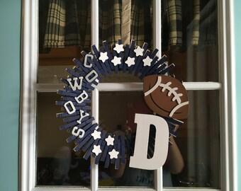 Dallas Cowboys Clothes Pin Wreath
