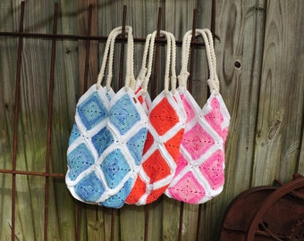Beach Bag,Crochet Beach Bag,Crochet Bag,Crochet Purse,100%Cotton. MADE IN USA!