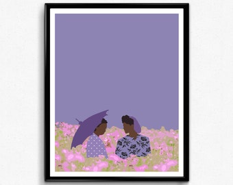 The Color Purple Movie Poster- minimalist movie poster, feminist print