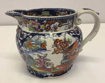 An early 19th century jug by Baggerley & Ball c1822 with oriental pattern,