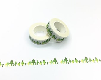 Green Trees Washi Tape - Watercolor Series