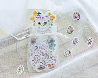 100 Pieces Cute Cats Mini Stickers