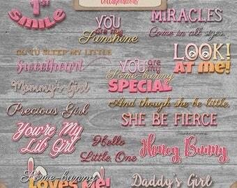 You're my lil girl Wordart Collab TSSA