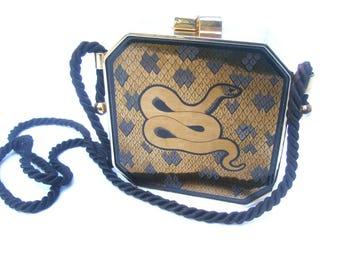 Exotic Gilt Metal Serpent Evening Bag c 1970s