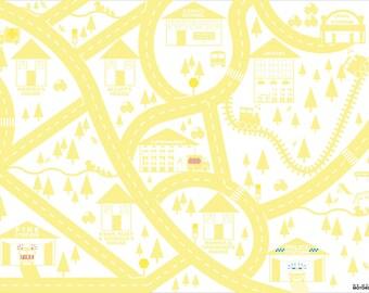 Yellow personalised city car mat