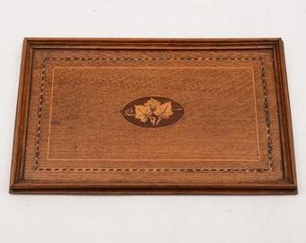 Edwardian Inlaid Oak Tray, Circa 1905