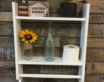 Farmhouse Bathroom Shelf