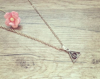 Short chain kl. Triangle silver, stainless steel, triangle, sanctuaries, vintage, blogger, statement