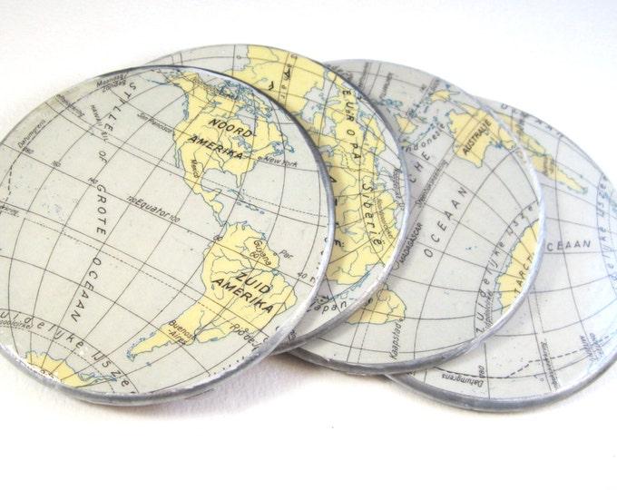World map coaster set