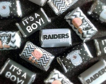 Raiders Baby Shower Miniature Candy Bar Wrappers