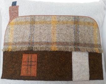 Scottish Highland home Tweed/Tartan cushion
