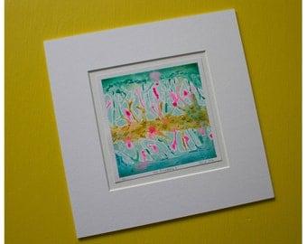 Sea Anemone original abstract painting