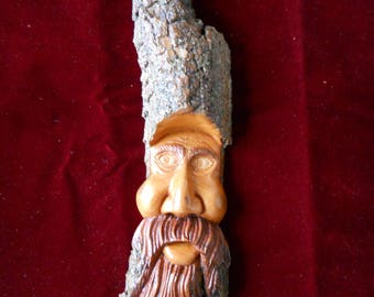 Wood spirit carved from Cottonwood bark 1